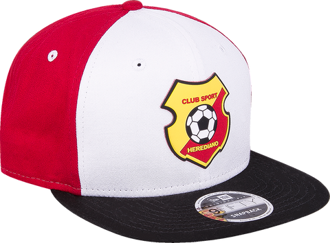 New Era 9 Fifty Herediano frente blanco visera negra snapback