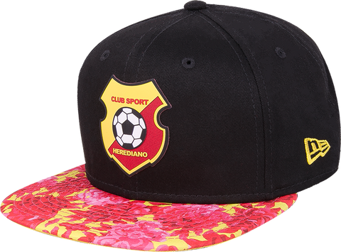 New Era 9 Fifty Herediano negra visera plana floral snapback