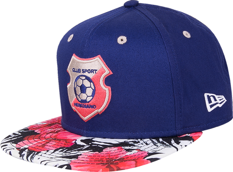 New Era 9 Fifty Herediano azul visera floral snapback