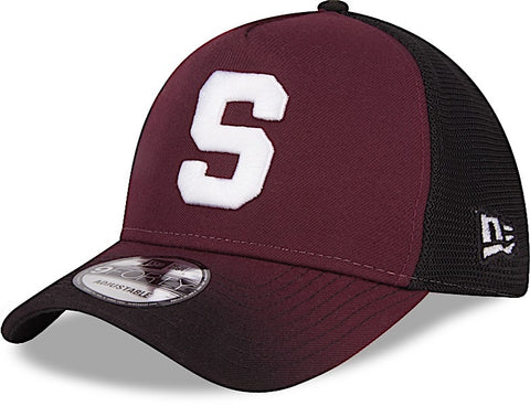 Saprissa Gorra 9FORTY Morada en degradación Trucker con Malla de New Era ... 7492f8115be