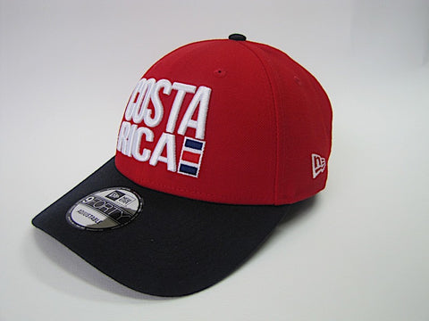 Costa Rica Gorra Roja con Azul 9Forty Ajustable de New Era