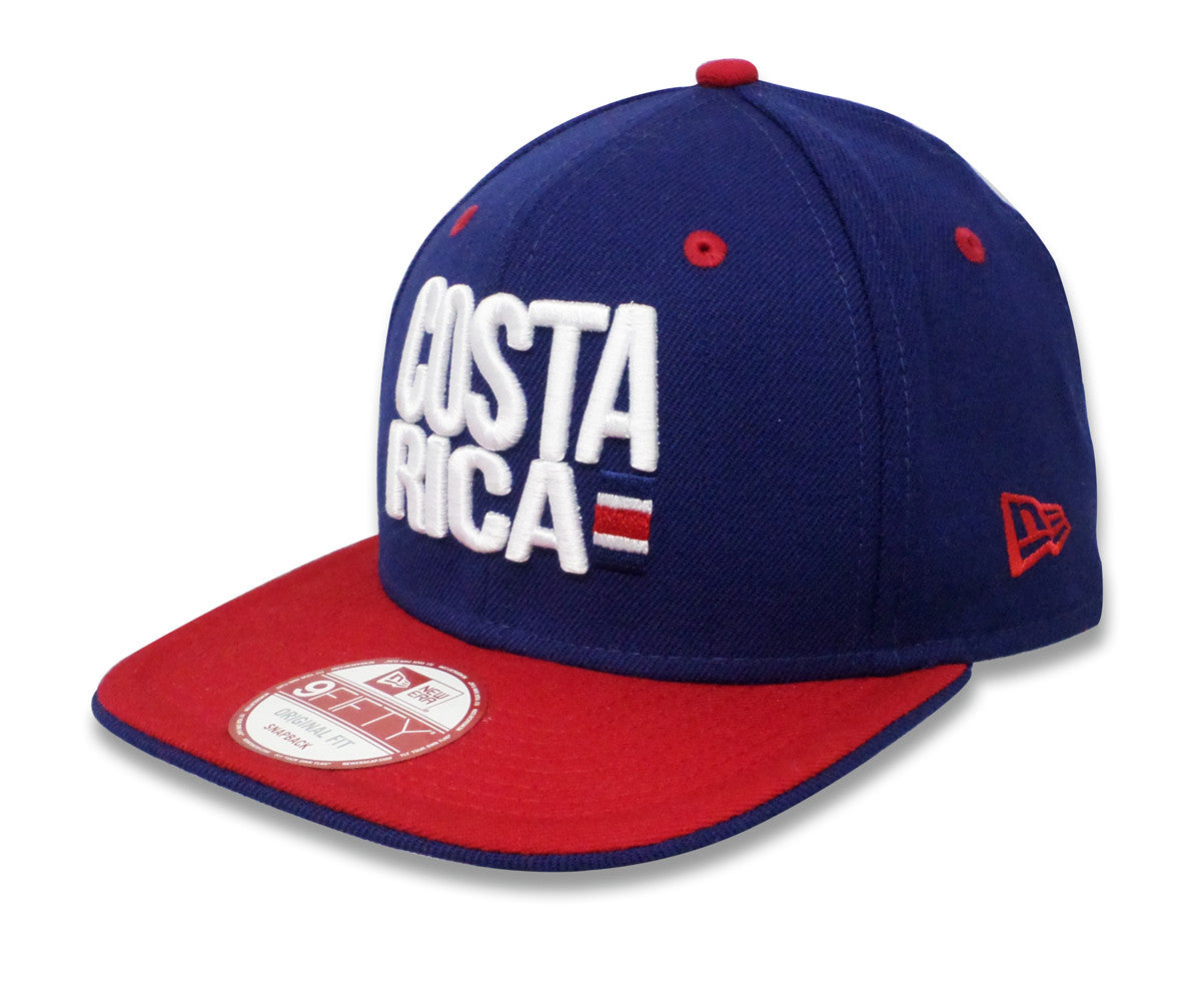 New Era Costa Rica Red Visor 9FIFTY Snapback - ClubHouse Costa Rica 263d1667c1d