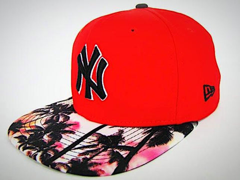 59fab6ddb35e3 NY Yankees Gorra Tropical Roja 9Fifty Ajustable de New Era ...