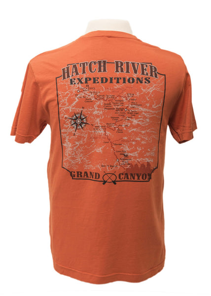 "Pigment Dyed ""Vintage Rust"" Tee with Colorado River map on back #20026"