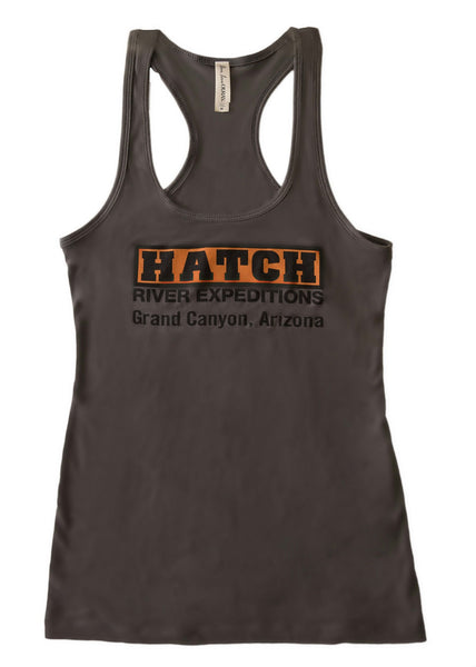 "Women's Racer Back Tank ""Dark Grey"" #82106"