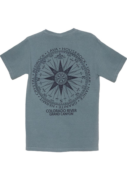 T-Shirt Vintage Compass - Ice Blue