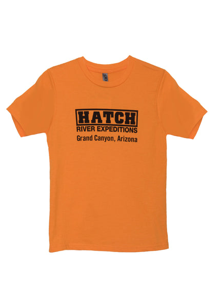 Youth Short Sleeve Vintage Tee - orange