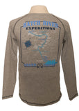 Women's Long Sleeve Groove Map Tee - Premium Heather