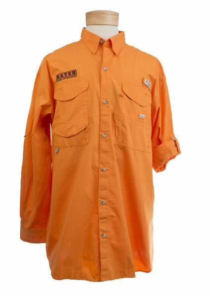 Men's Bonehead Orange Long Sleeve Shirt #857