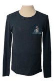 Tri Blend Long Sleeve Tee with River Rat - Indigo