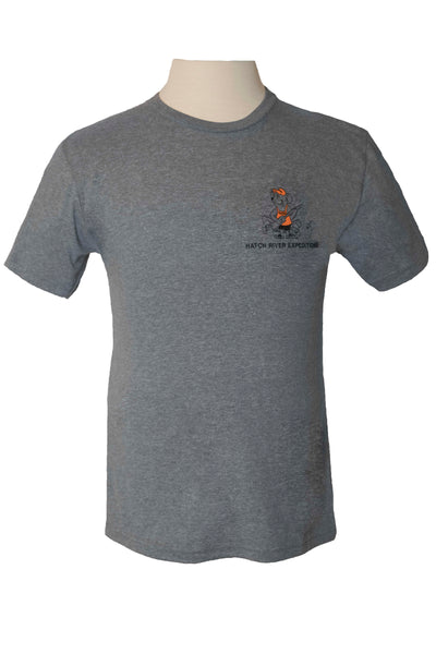 CLEARANCE Tri Blend Short Sleeve Tee with River Rat - Premium Heather