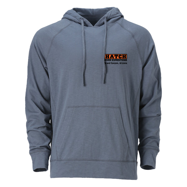 Lightweight Slub Hoodie - Steel Heather