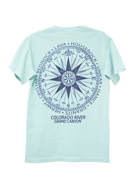 T-Shirt Vintage Compass - Chalky Mint