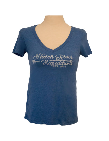 Women's Tri-Blend Short Sleeve T-Shirt - Vintage Royal Blue