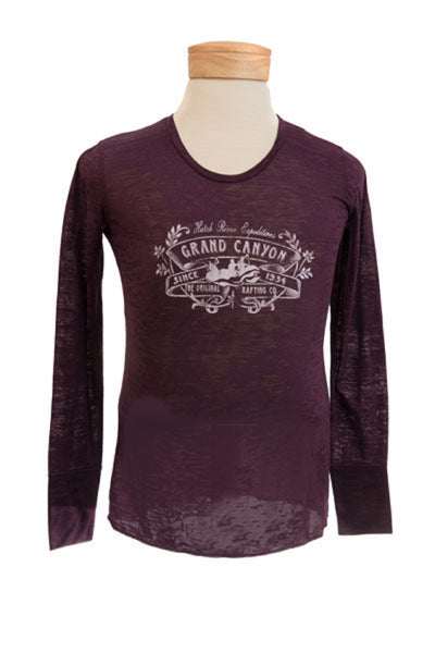CLEARANCE Women's Burnout Long Sleeve Blackberry #82010