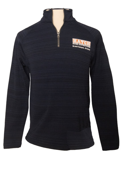 Evolution 1/4 Zip Fleece with Hatch Logo - Midnight Navy