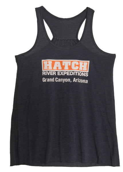 Women's Flowy Racer Back Tank - Heather Navy (blue)