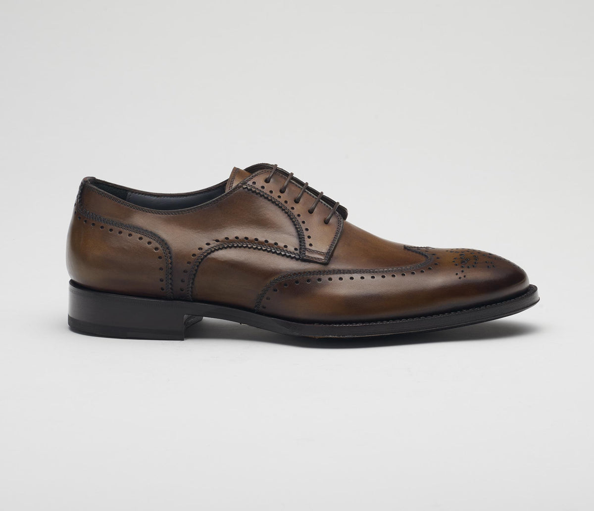 Matera Leather Lace-up in Zenzero
