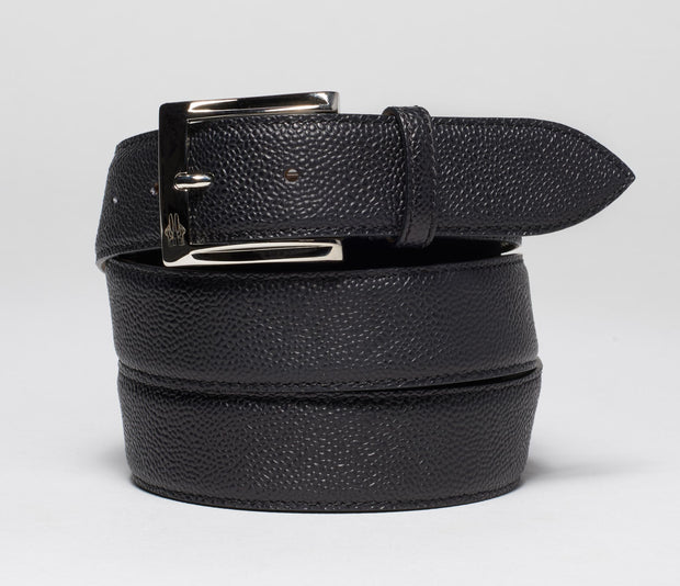 Belt in Pebble Grain Nero