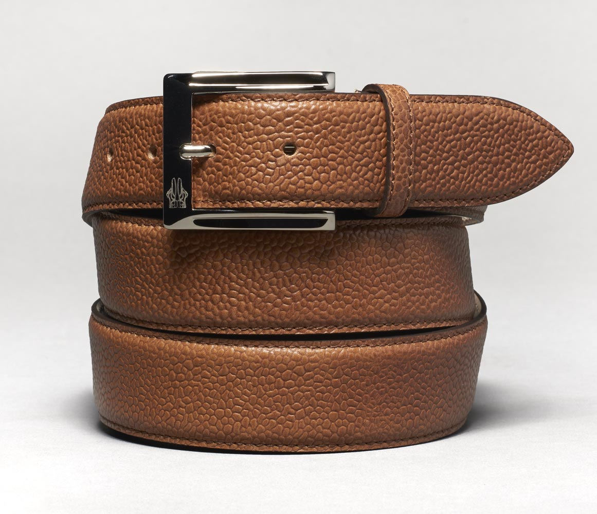 Belt in Scotch Grain Brown