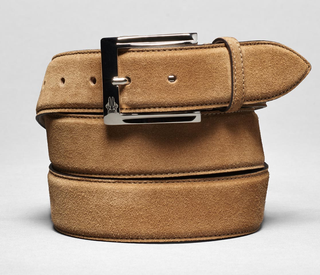 Belt In Velour Hazel