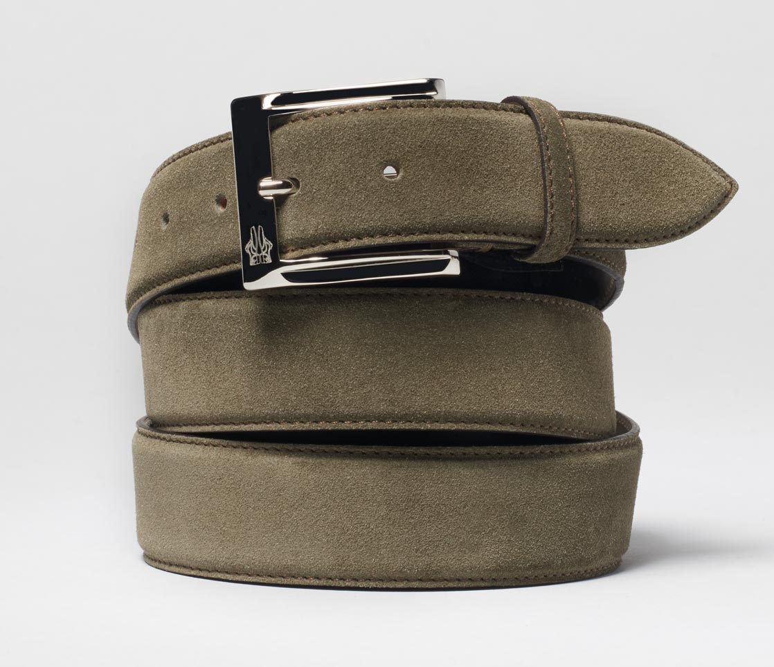 Belt in Velour Yerba
