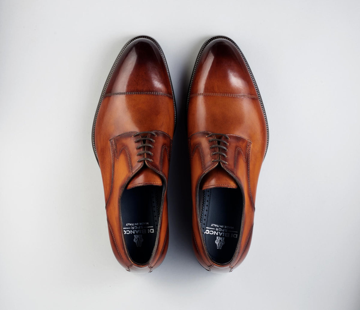Bergamo Leather Deco Lace-up in Marmo