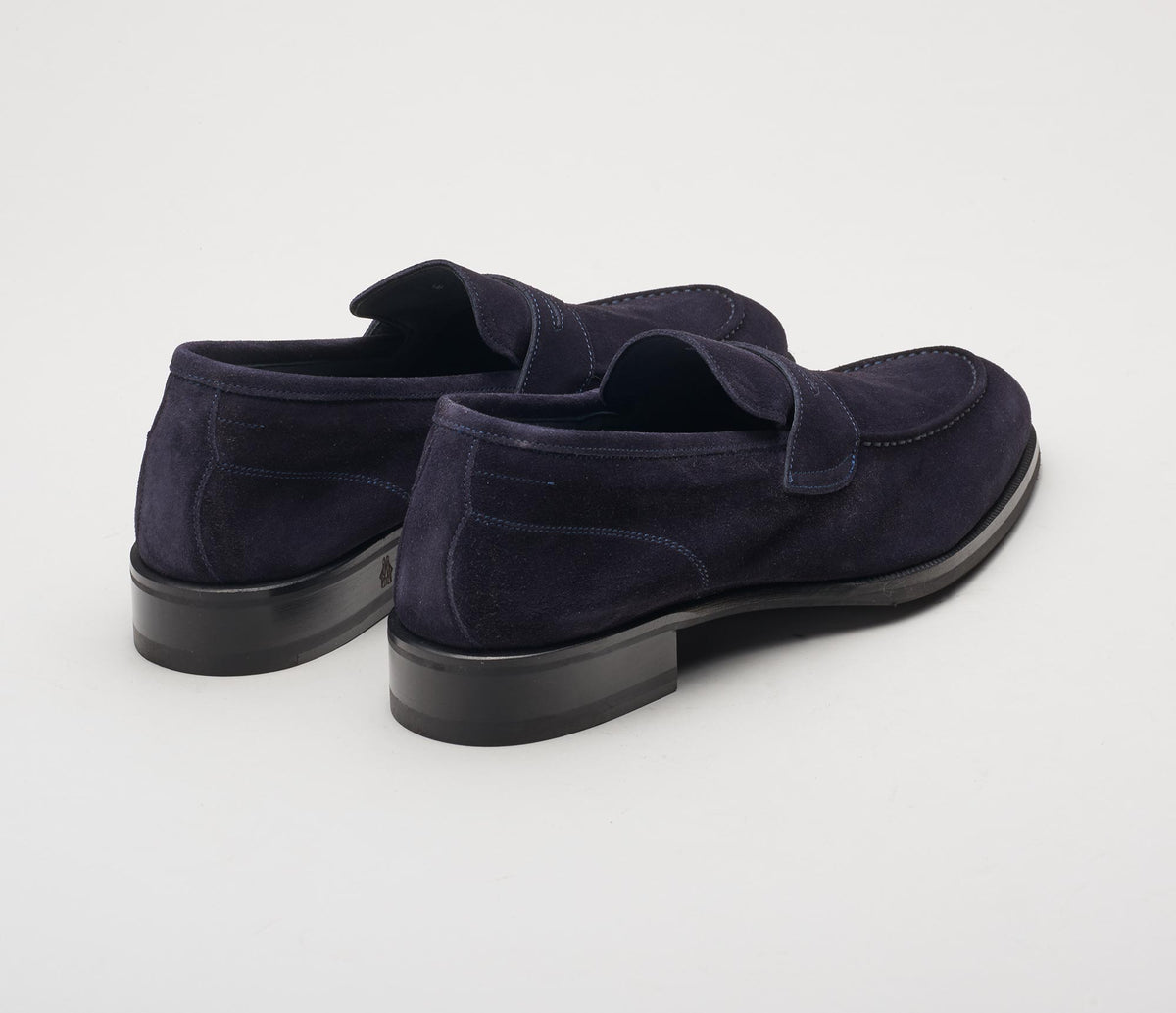 The Brera Navy Men's Suede Loafers