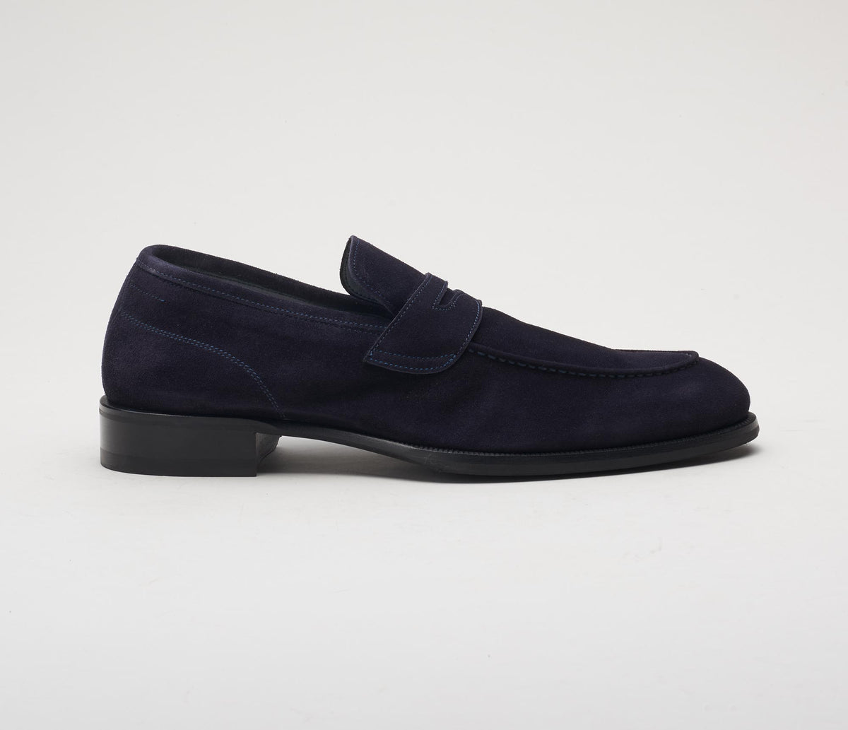 Brera Suede Loafer in Navy