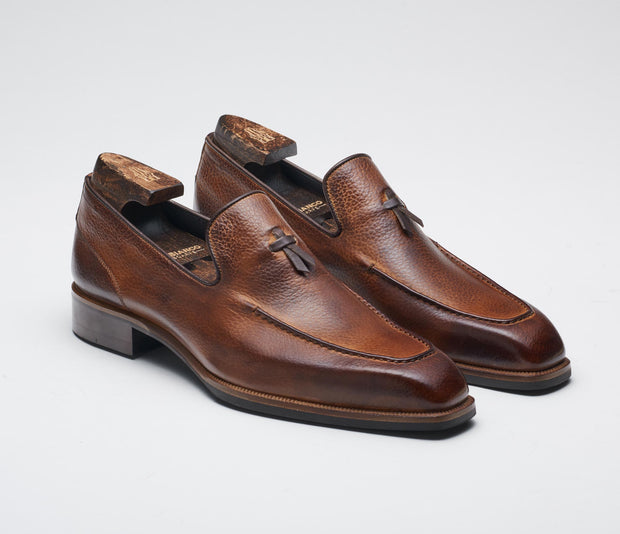 Men's italian shoes, men's loafer brown