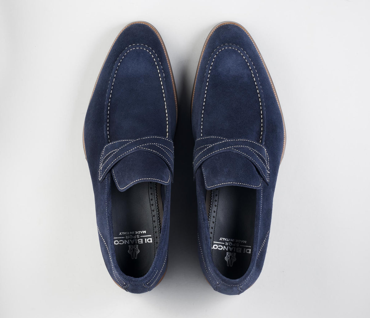 The Firenze Navy Men's Suede Loafers