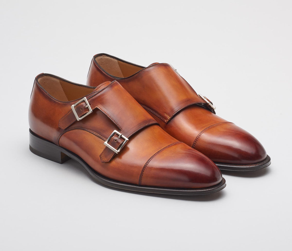 Palermo Leather Deco Monkstrap in Marble