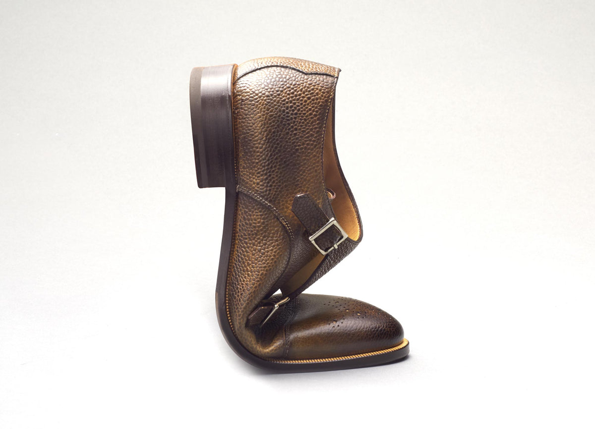 Bari Leather Deco Monkstrap in Ginger