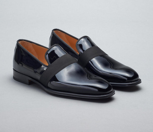 Catania Patent Leather Loafer in Nero