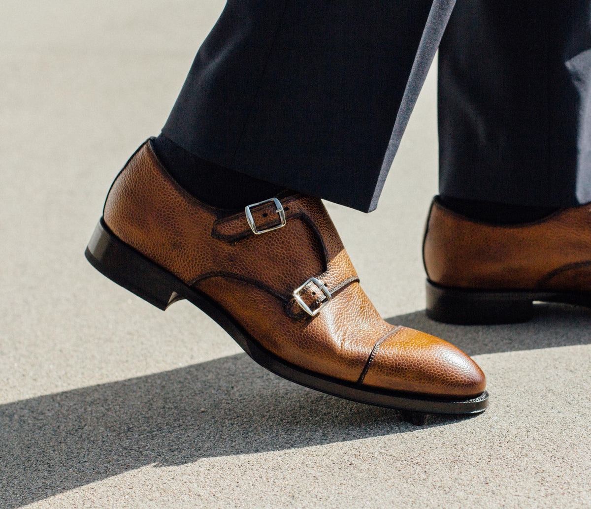 The Isernia Stone Monk Strap Shoes