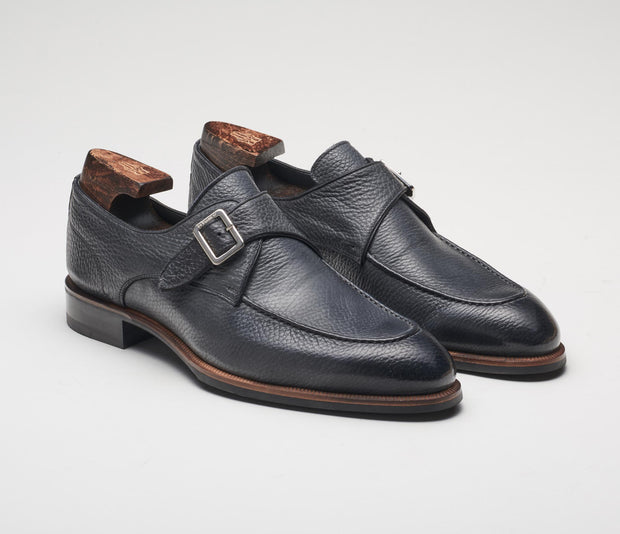 Men's italian shoes, men's monkstrap grey
