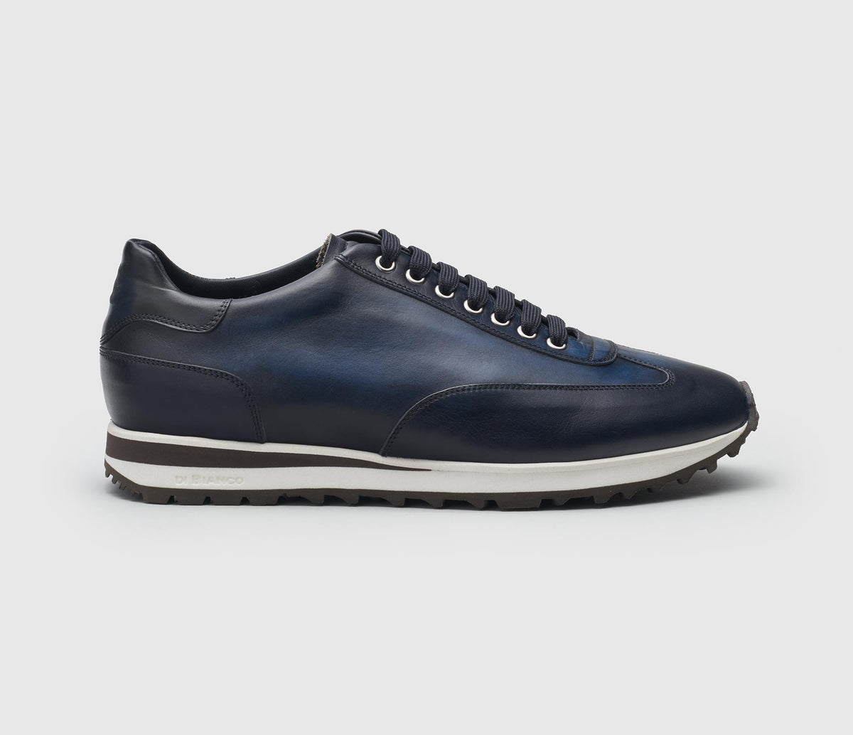 Trieste Leather Sneaker in Navy