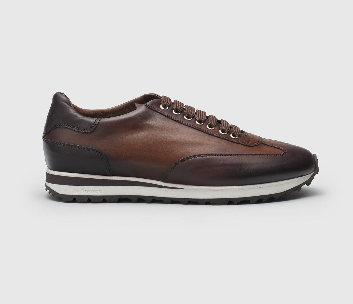 The Trieste Reverse Sombrero Leather Sneakers for Men