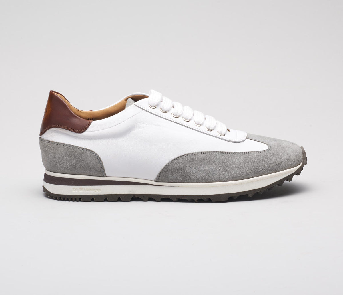The Trieste White Leather Sneakers