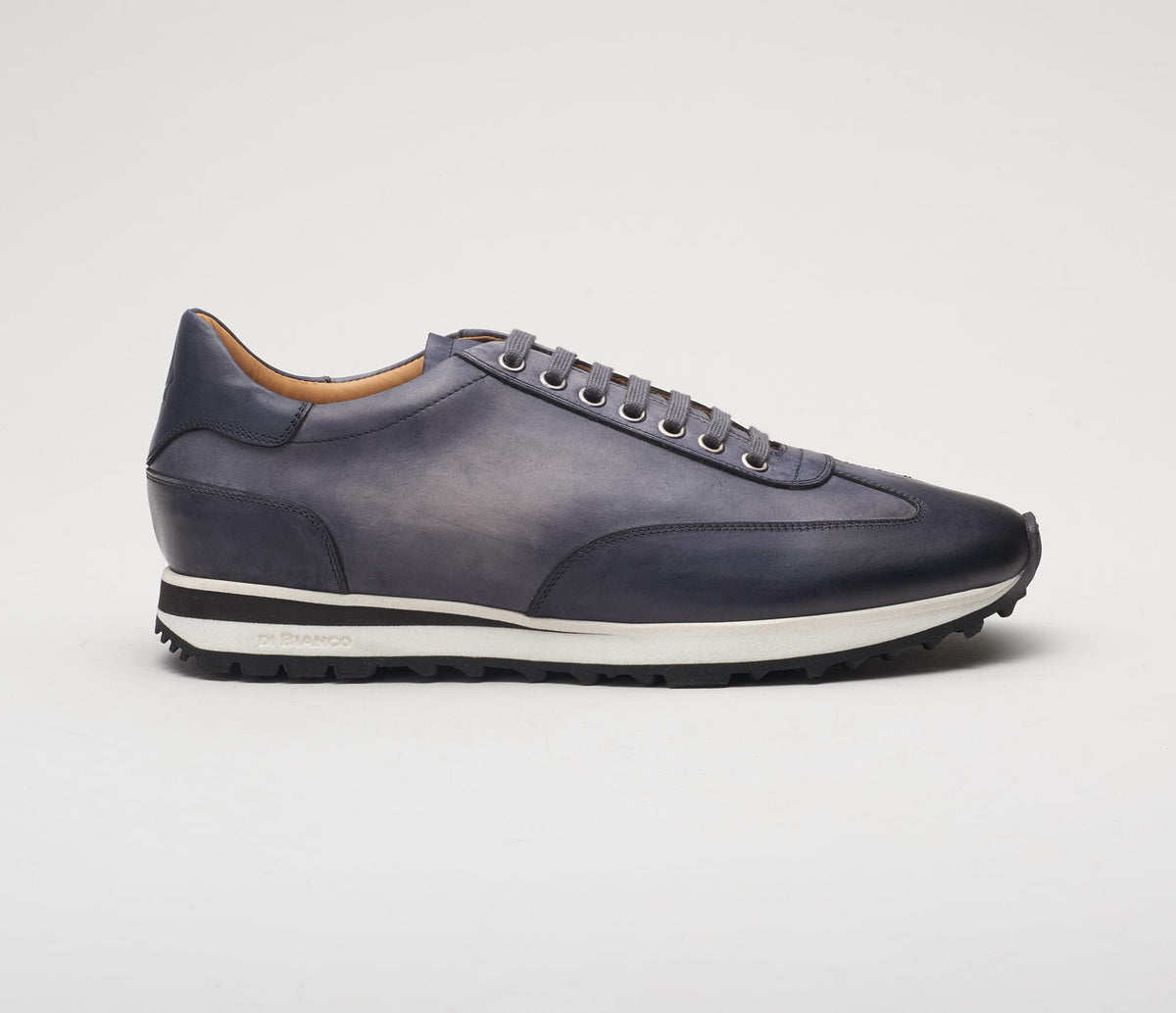 Trieste Leather Sneaker in Smoke