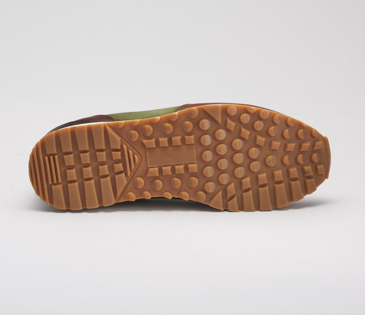 The Roma Verde Leather Sneakers for Men