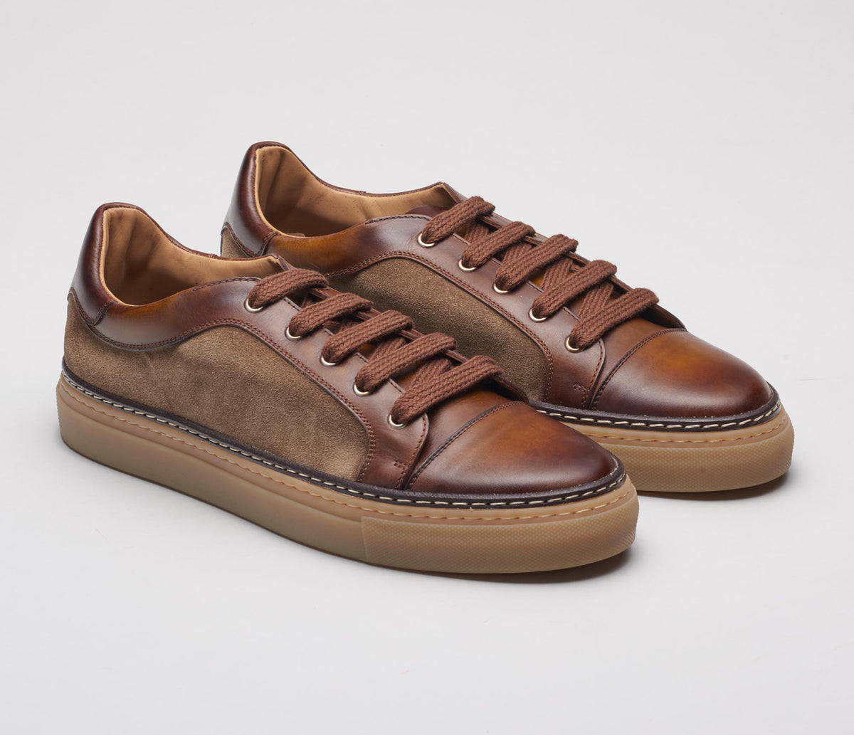 The Messina Sesamo Leather Sneakers for Men