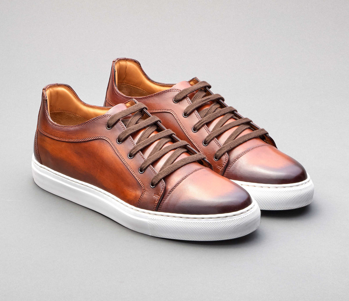 Messina Leather Deco Sneaker in Melograno