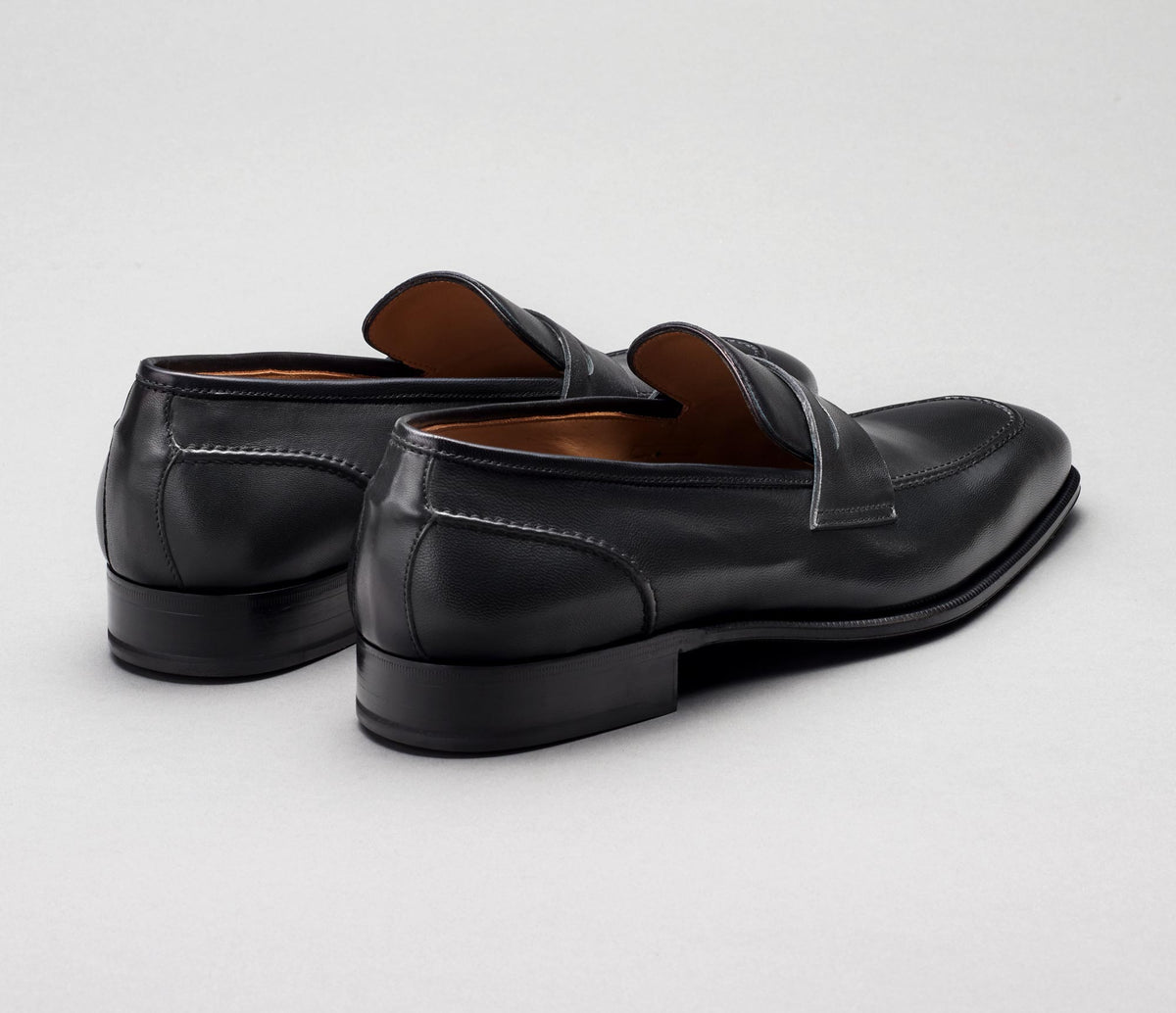 Padua Leather Loafer in Nero