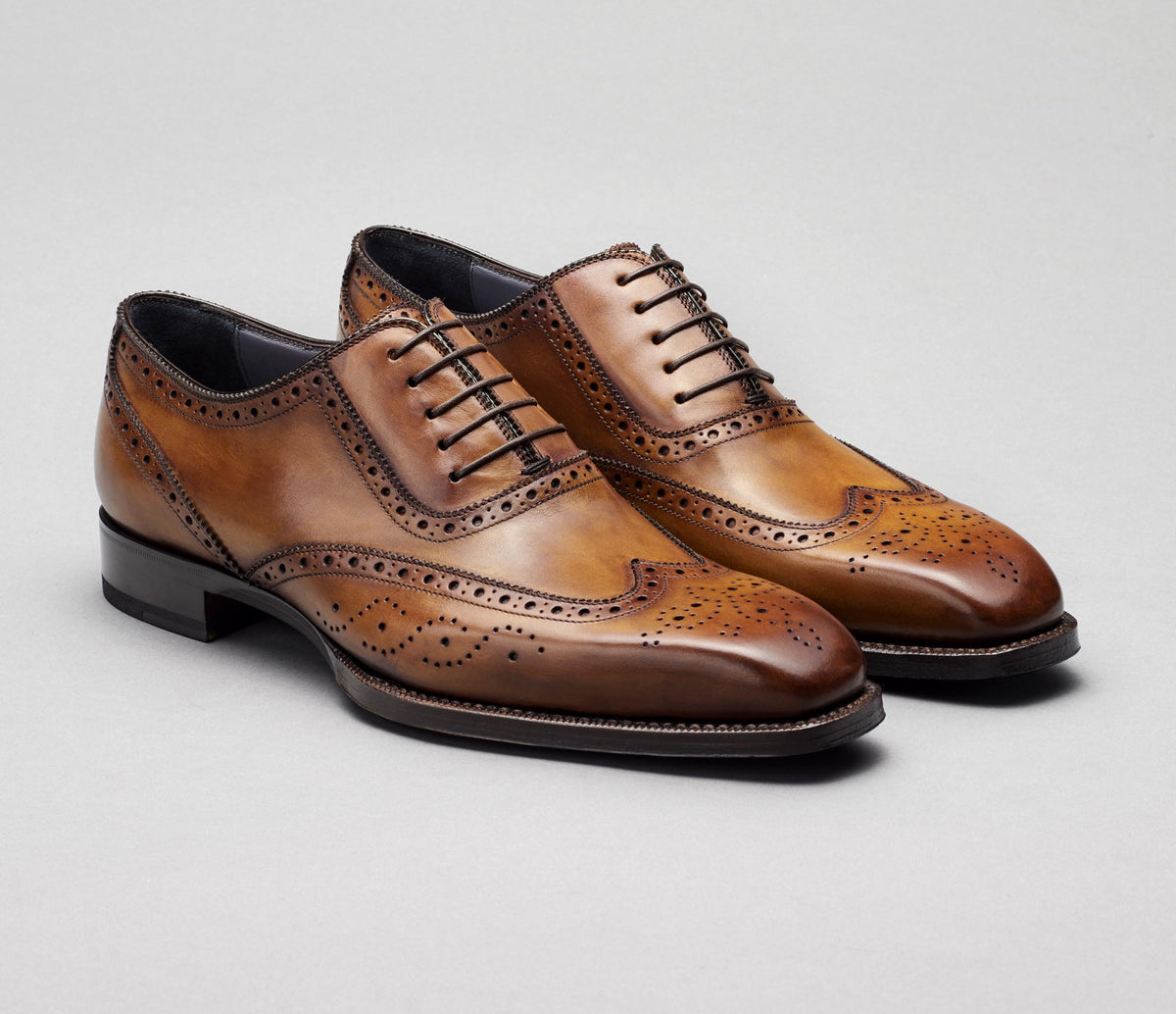 Anzio Leather Lace-up in Reverse Sombrero
