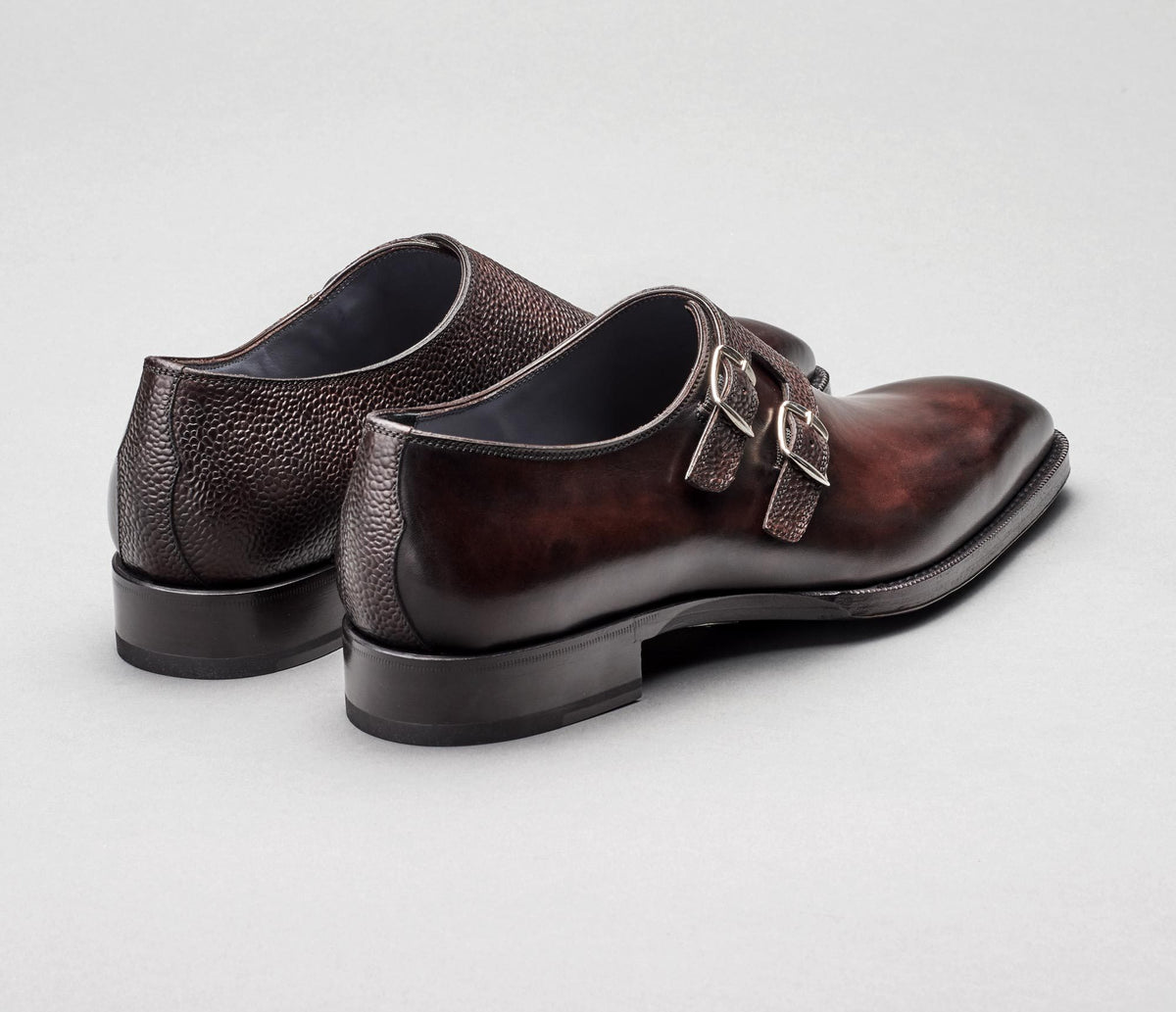 Novara Pebble Grain Monkstrap