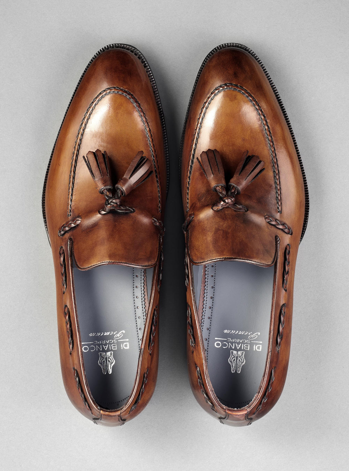 Varese Tassel Loafer in Tabacco