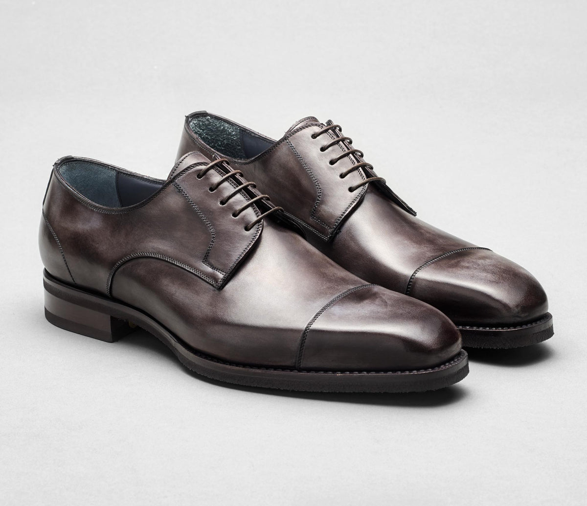 Pesaro Leather Lace-up in Fumo