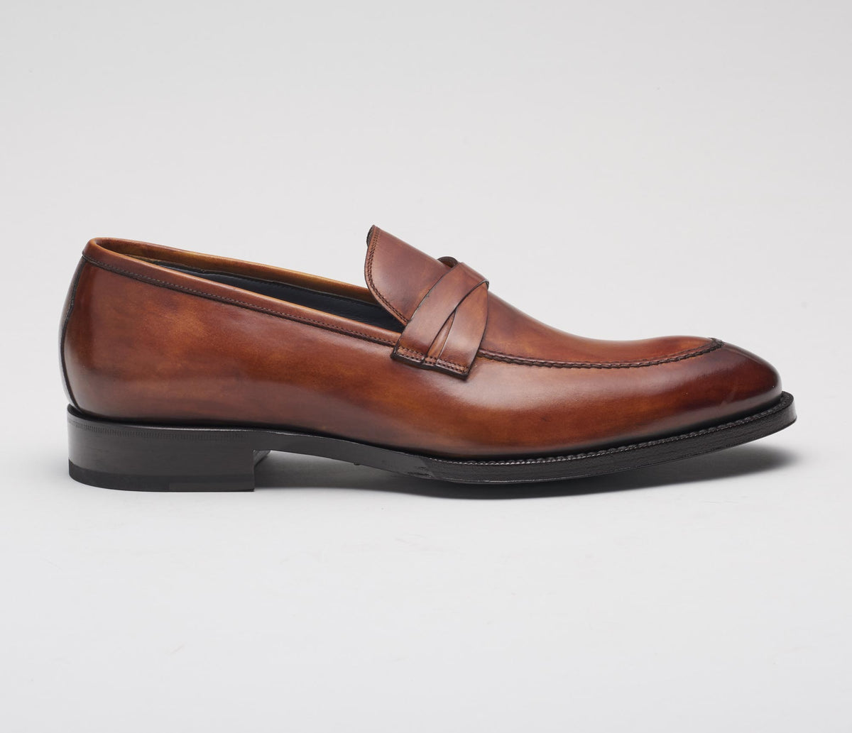 Siena Leather Loafer in Giallo Okra