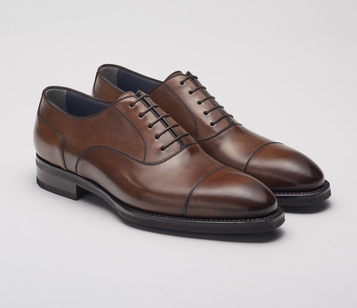 Bolzano Leather Deco Lace-up in Castagna